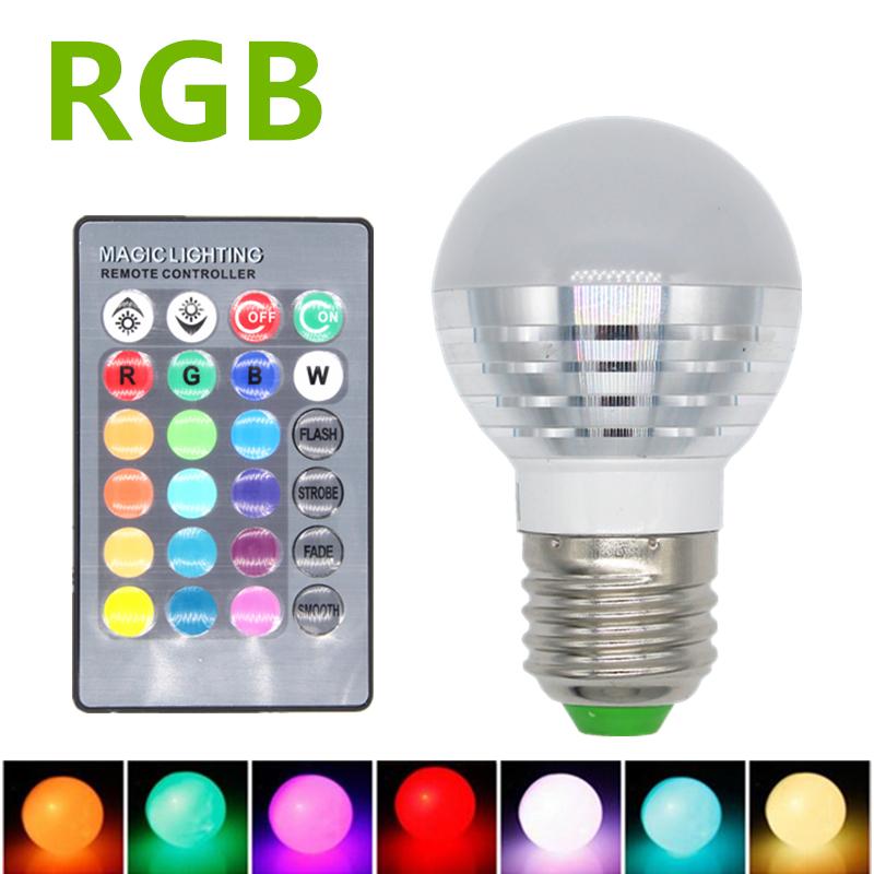 3W RGB LED Lamp E27 220V Spotlight Lampada LED light E14 85 265V Christmas Lanterna Bombillas     -> Lampada Led Rgb