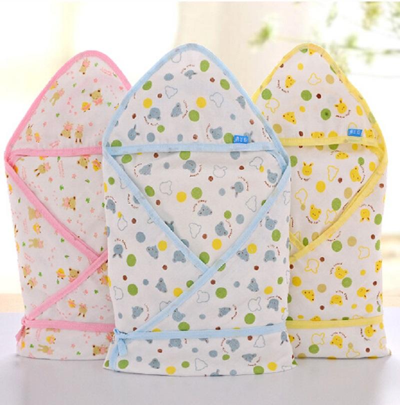 100% Cotton Gauze Sleeping Bags For Infants Envelope Summer Sleeping Bag Baby Newborn Blanket Swaddling On Baby Stroller 75X75CM(China (Mainland))