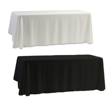 Hot salecc, table cloth White & Black for Banquet Wedding Party Decor 145x145cm free shipping(China (Mainland))