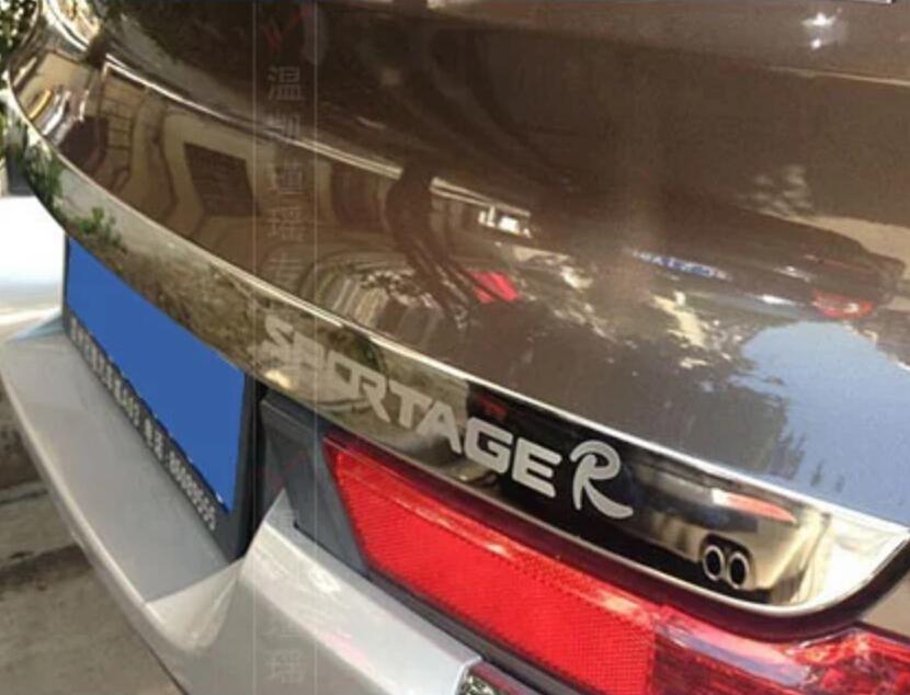 Kia Rear CAR LOGO Tail Door Trunk molding Lid Cover trim FOR 2011 2012 2013 2014 2015 Sportage R - Car goods shop store
