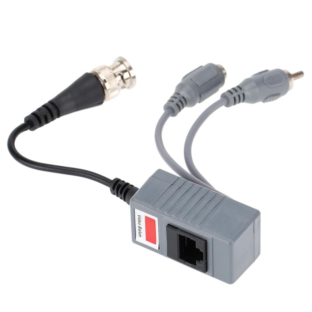 CCTV Camera Audio Video Balun Transceiver BNC UTP RJ45 Video Balun with Audio Video and Power over CAT5/5E/6 Cable(China (Mainland))