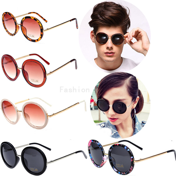 Round sunglasses women 2015 brand design vintage large