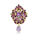 New Fashion Crystal Brooch Jewelry Zircon Pendant Brooch Wedding For Women Party Gifts