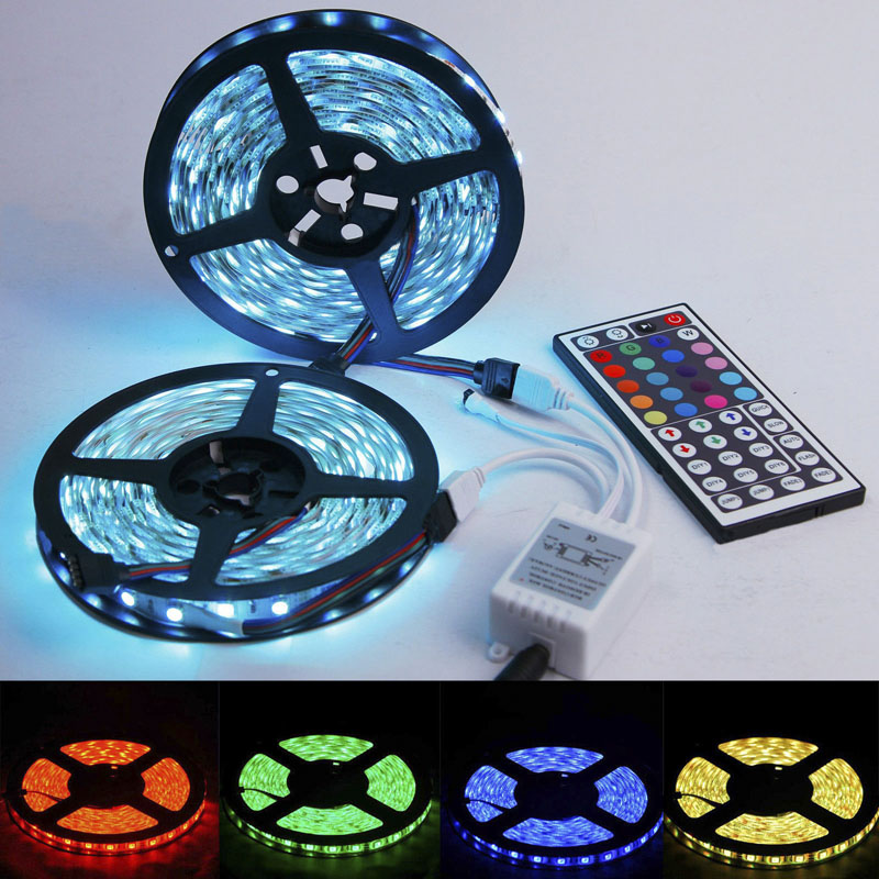 xtf2015 300/600LEDs Flexible LED Lighting Strip Waterproof RGB 5050 SMD +Two Outputs 44k IR Remote,T-D(China (Mainland))