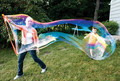 Children s Day to play outdoors large bubble toy sword Park Plaza blowing bubbles bubble wand
