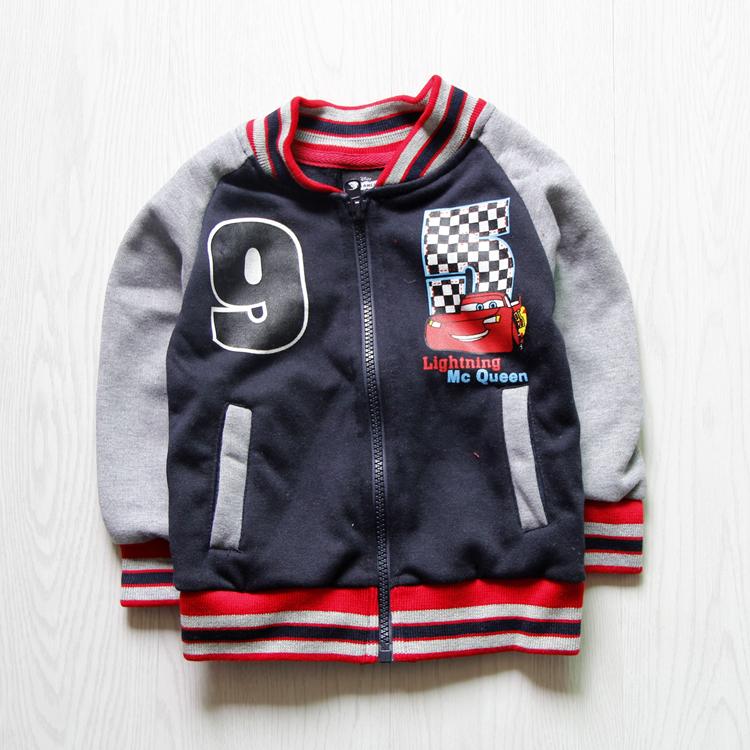 2015 Spring/autumn baby boy girl cartoon CAR jackets Kids Clothes Children outerwear Babi Boys baseball Suit Outerwear & Coats(China (Mainland))