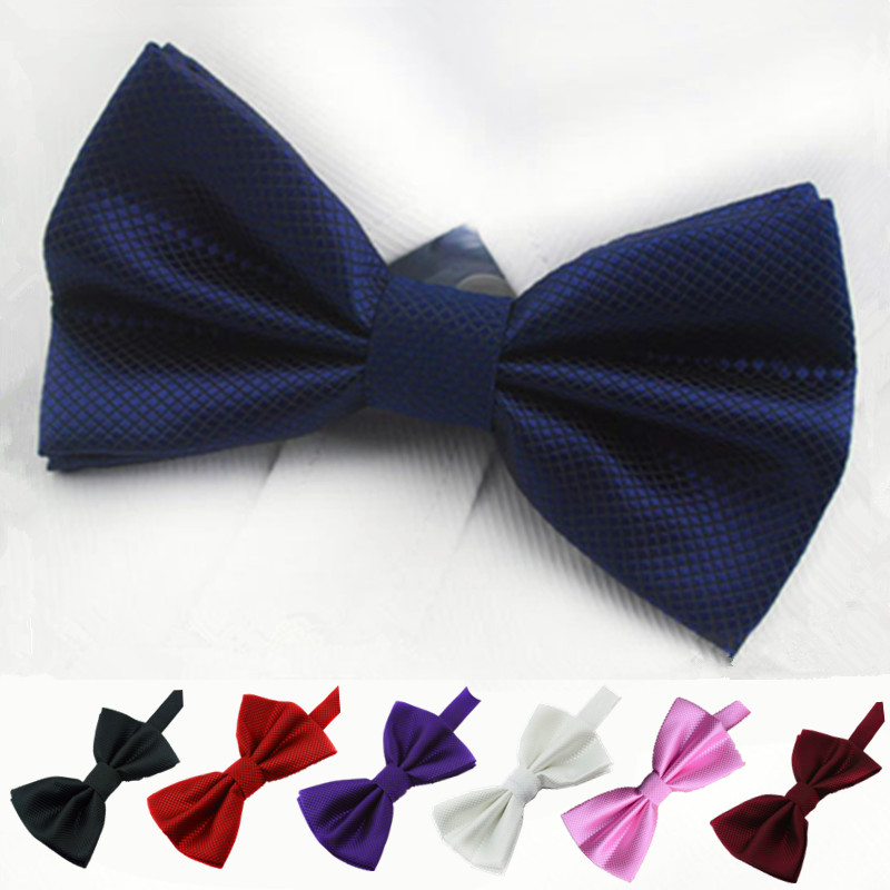 7Colors Solid Bow Ties,Adjustable Formal Wedding Business Butterfly Cravat Bowtie,Fashion New Boys Bowties For Men(China (Mainland))