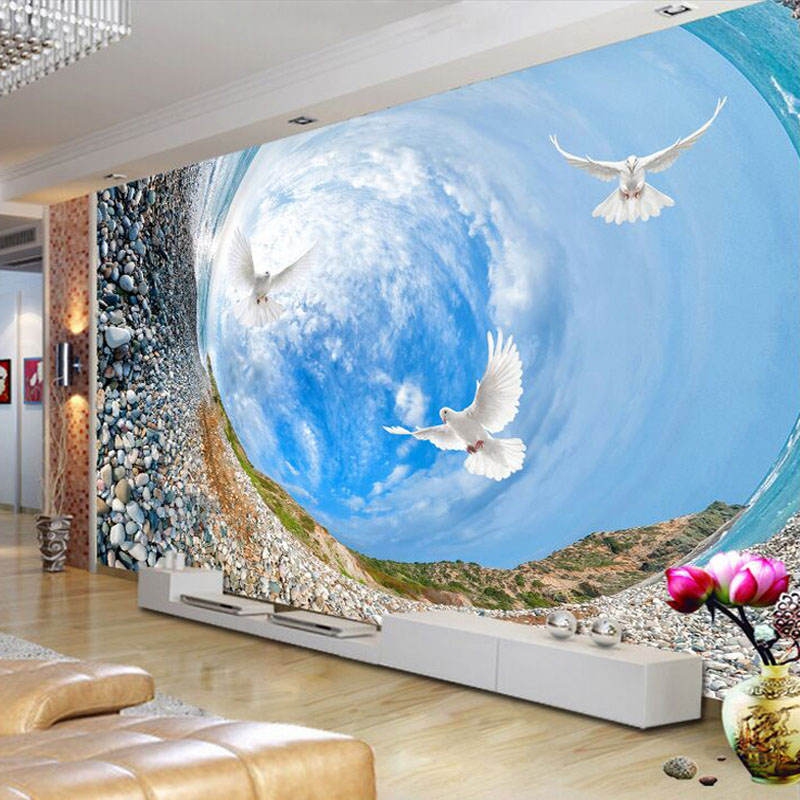 Compare prices on swirl painting online shopping buy low for Custom mural cost