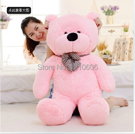 140CM Wholesale High Quality Low Price Soft Plush Big Teddy Bear Skin Coat Stuffed Toy Present For Children Christmas Gift(China (Mainland))