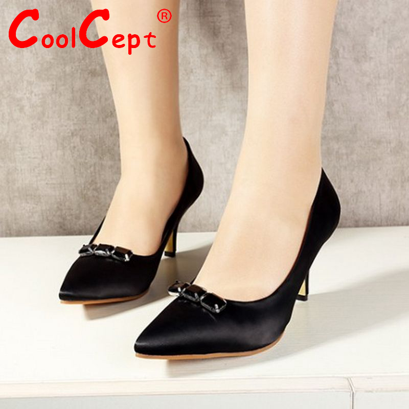 women high heel shoes new arrival fashion concise lady heels pumps wedding sexy point toe footwear size 33-43 P22509<br><br>Aliexpress