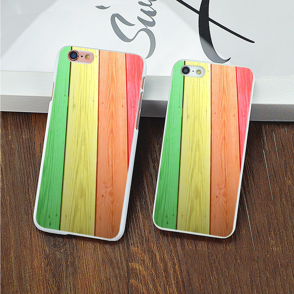 i5/i6/6P Fashion Phone Cases For iPhone 7 Case Color wood design Cover For iphone4 5S 6 6S / Plus New Screen Protector(China (Mainland))