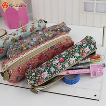 Fashion Mini School Pencil Case Retro Flower Floral Lace Pencil Pen Bag Cosmetic Makeup Bag Pouch 20cm