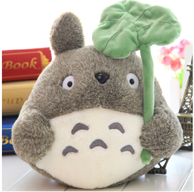 Plush doll 1pc 25cm cartoon anime lovely lotus leaf totoro little home decoration children stuffed toy creative gift for baby(China (Mainland))