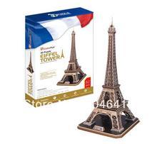 Torre Eiffel CubicFun 3D educativo de papel y EPS modelo Papercraft adorno casero para la navidad regalo de cumpleaños