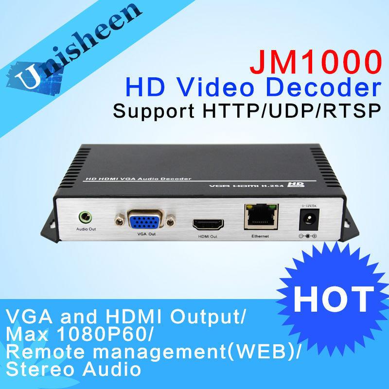 MPEG-4 AVC H.264 Decoder Replace VGA&HDMI output repleace topbox &PC transmitter IP encoder decoder(China (Mainland))