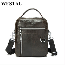 Buy WESTAL 100% Genuine Leather Men Bags Classic Male Crossbody Shoulder Handbag Man Fashion Messenger Bag Men Hot Sale Bags 9023 for $25.76 in AliExpress store