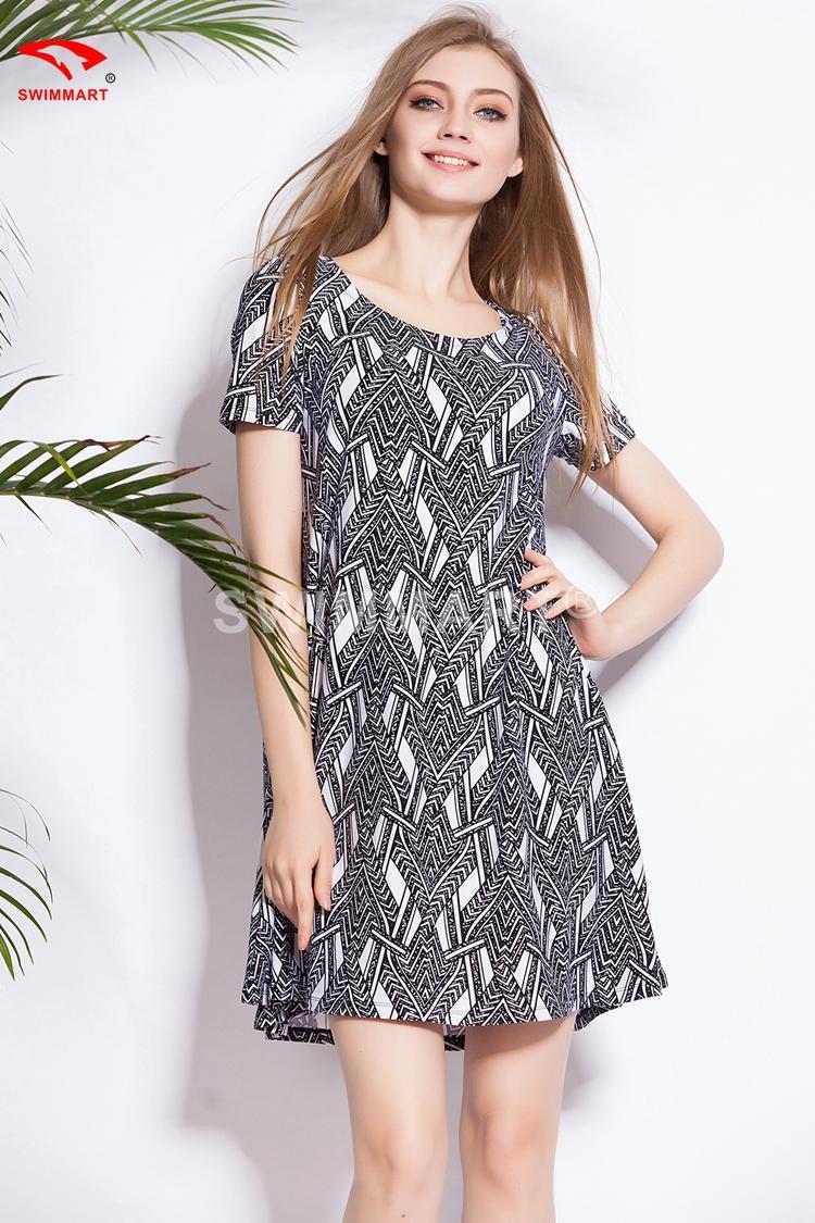 Summer Dress 2015 Casual Print Dresses Women Dress Plus ...