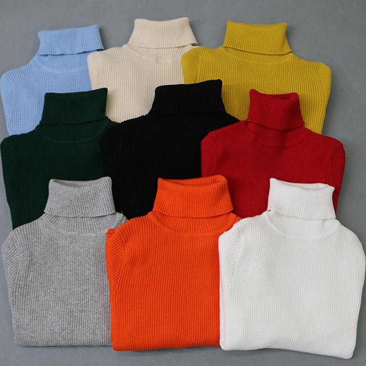Winter 1-5Y Children Kids Boys Girls High Neck Knitting Sweaters Clothing Cardigan Kids Shirt Cashmere Sweater Camisola Homens(China (Mainland))