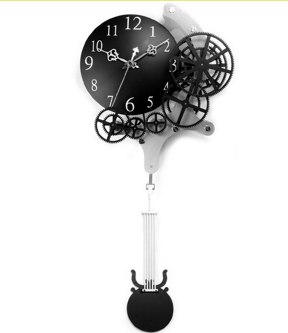 wall clock gear clock mechanical appearance decoration