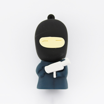Hot sale Retail Genuine full capacity Rubber Ninjas USB flash drive pen drive memory stick 2G/4G/8G/16G/32G pendrive usb drive(China (Mainland))