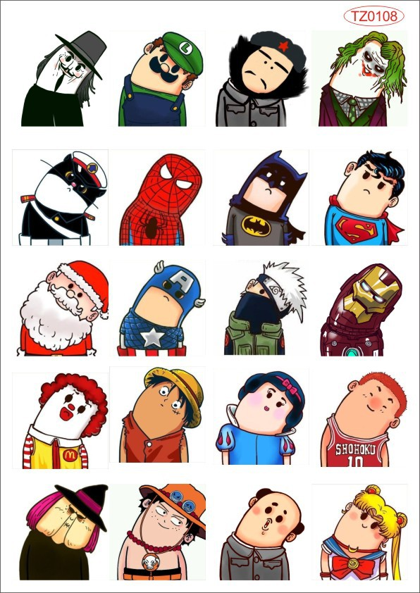 Glossy Film Super Hero Saving the Earth Car Sticker Cool Car styling Cartoon Comic Laptop Sticker Waterproof PVC Doodle Sticker(China (Mainland))
