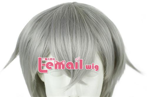 Cheap Short Straight Gray Men s Hair Touken Ranbu Online Hotarumaru Cosplay Wig