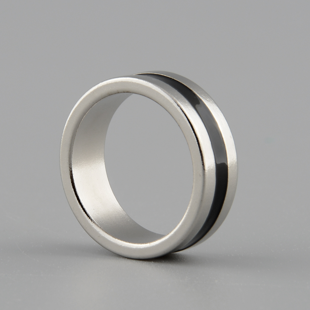 Hot New Strong Magnetic Magic Ring Silver Black Coin Magician Trick Props Show Inner Dia 20mm Size L(China (Mainland))