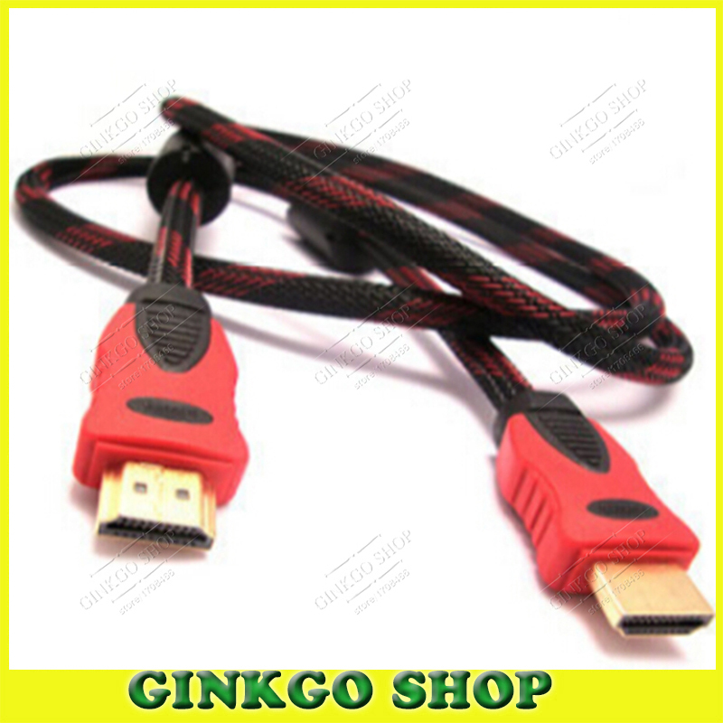2pcs/lot Hdmi to HDMI Cable Male to Male dvi Adapter Cable for HD TV with Dual Magnet Ring 1.5M Length Free Shipping<br><br>Aliexpress