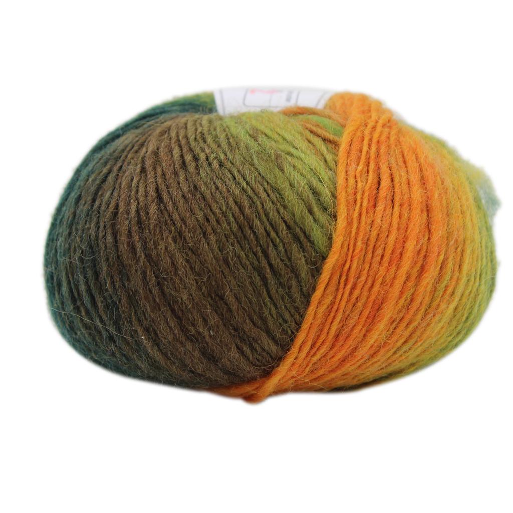 fityle 5Pcc Knitted Chunky Sock Shawl Woolen Rainbow Hand Knitting Scores Wool Yarn Needles Crochet Weave Thread