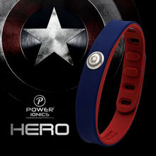 Hero Power Ionics 3000 ions IDEA BAND Sports Titanium Bracelet Wristband Balance Human Body(China (Mainland))