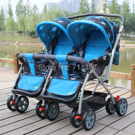 Twins stroller baby stroller trolley folding infant double stroller Different Color You Can Choose made in China cheap stroller!