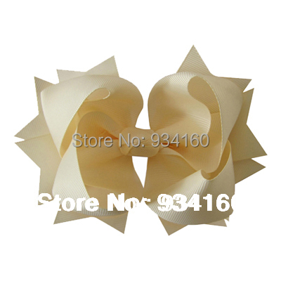 """6"""" Large Solid grosgrain Antique Layer spike girl bow Headwear headdress clip 12pcs(China (Mainland))"""