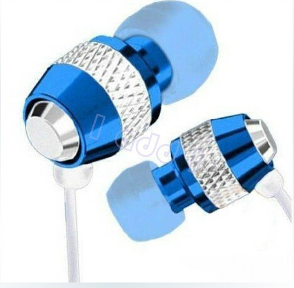 DHL free metal super bass stereo in-ear Earphone with Microphone For iphone/Sony/Samsung HTC etc wholesale 100pcs/lot(China (Mainland))