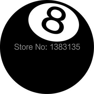 8 BALL/POOL BALL car window sticker vinyl decal funny JDM For Laptop And all the smooth surface(China (Mainland))