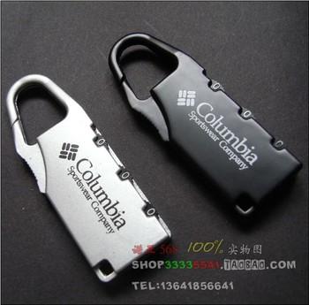 10pcs/Lot Free Shipping Coded Lock ,Mini Lock Luggage,Anti-theft Lock ,Alloy Password Hook  0004
