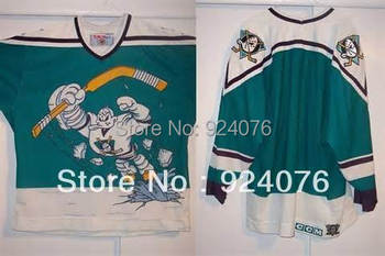 1995-96 Wild Wing Custom Anaheim Old Mighty Ducks Jerseys personalized - Cheap ICE Hockey Jersey Number & Nane Sewn On (XS-5XL)