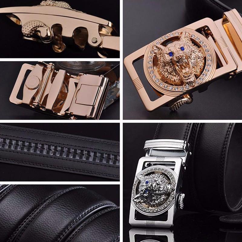 HTB1 8q1JVXXXXaoaXXXq6xXFXXXf - Wolf Designers Luxury Cowhide Brand Genuine Leather Automatic Buckle Belts for Mens High Quality Male Cowskin Ceinture Homme