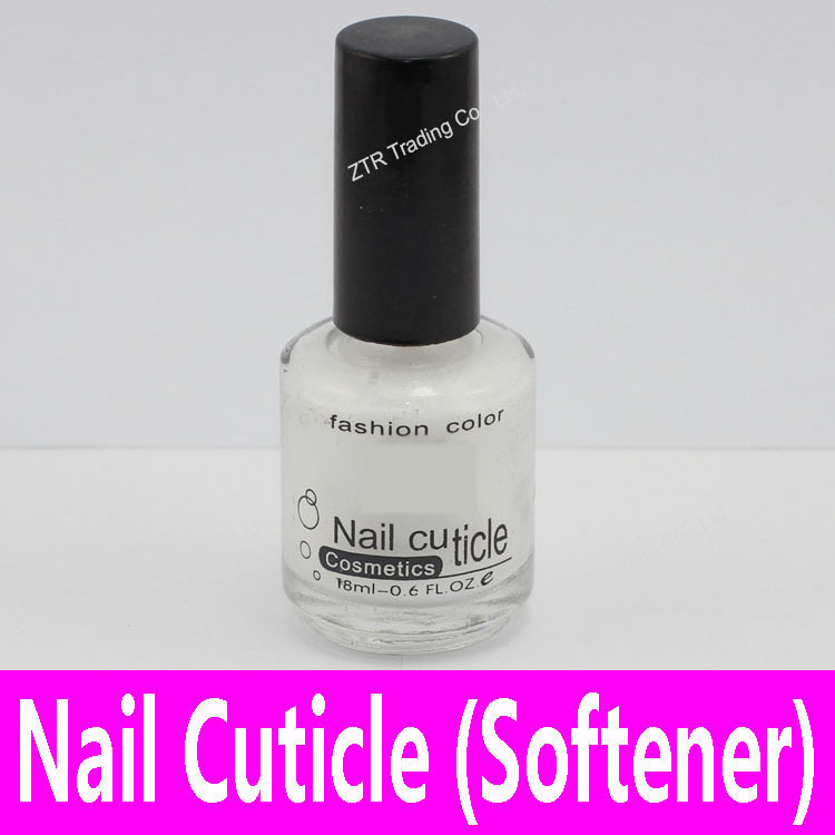 1piece Nail Cuticle Softener Oil White Color Nail Cosmetics Decoration Softening Oil Nail Art Tool with Brush Glass Bottle 18ml(China (Mainland))