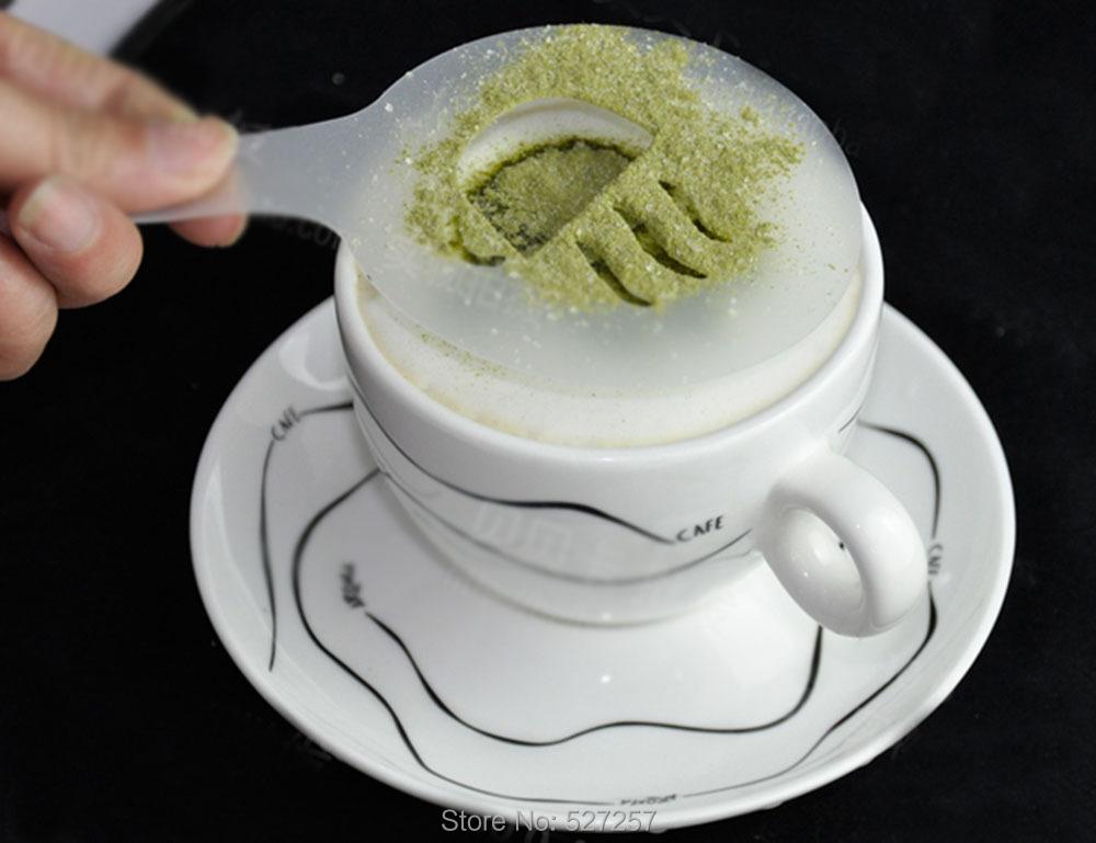 16Pcs/set Cappuccino/Latte Coffee Barista Stencils/Template – Free shipping