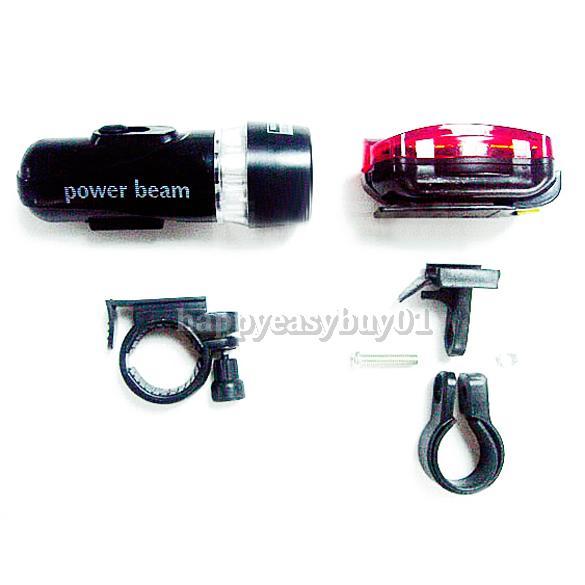 Torch Bike Bicycle 5 LED Head Light 5 LED Rear Lamp H1E1(China (Mainland))