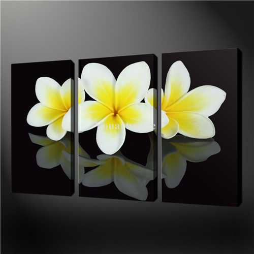 Wall Art Black And White Flowers: Piece wall art painting pictures ...