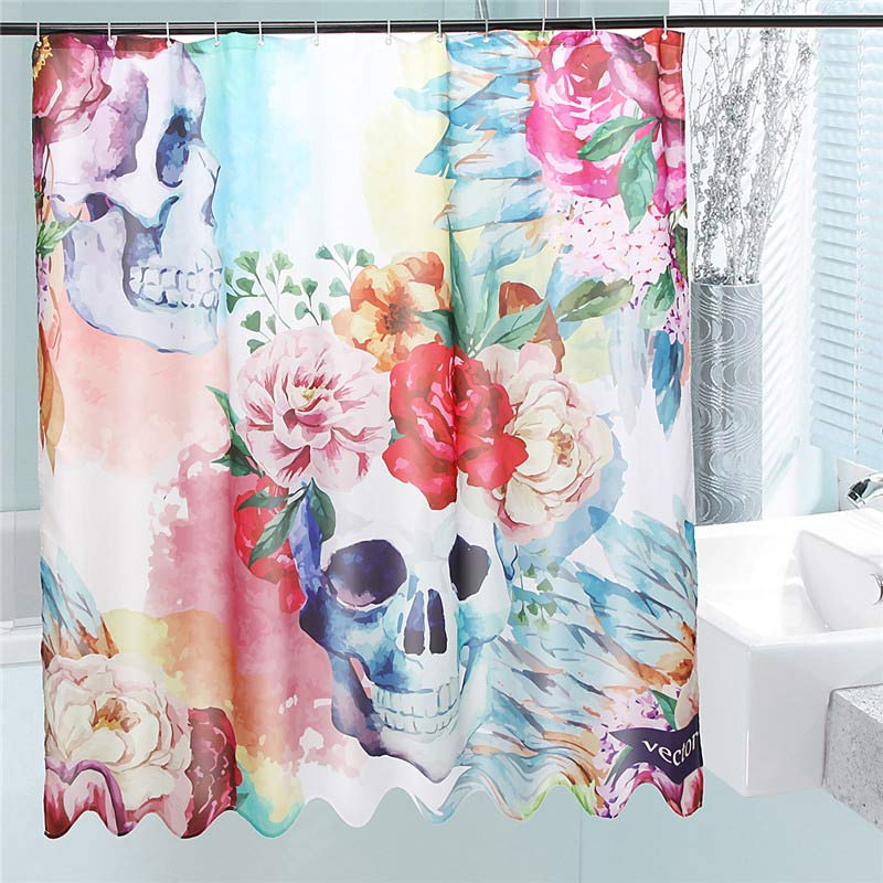 Online Get Cheap Skull Shower Curtain Aliexpress