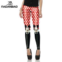 New Arrival Red legins Cute micky rat leggins Printed  Women leggings KDK1447(China (Mainland))