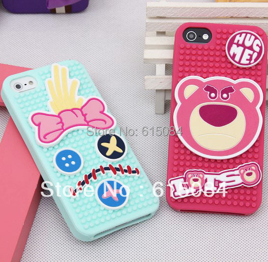 EMS DHL Free Shipping 20pcs/lot Cute 3D Minnie Mickey Mouse Loli Stitch Skull Bear Doraemon Dumbo Case Cover for iPhone 5 5G 5th(China (Mainland))