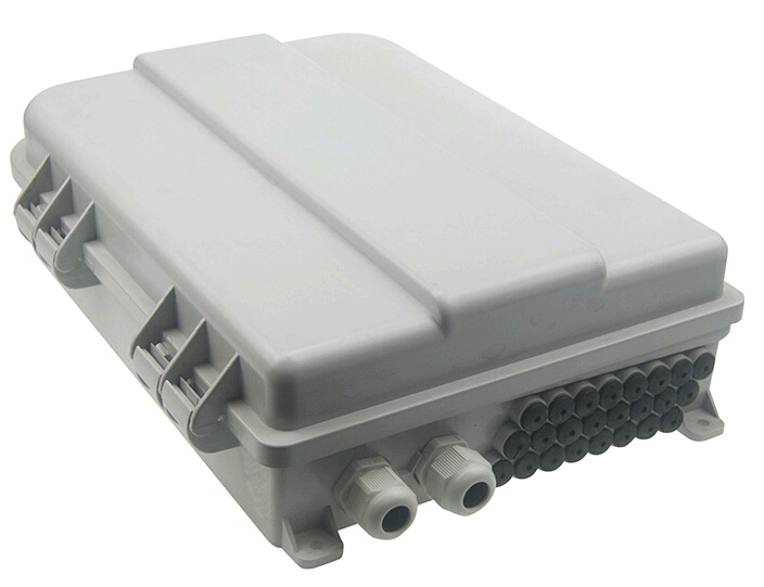 24 port FTTH Fiber Optic Termination Box FTTH24 Core ABS Outdoor Fiber Optic Distribution Box FTTH distribution box by DHL(China (Mainland))