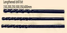 1.5 * 100 mm alargar broca M2 Material alargar helicoidales alta velocidad negro drill10pcs = 1 lote