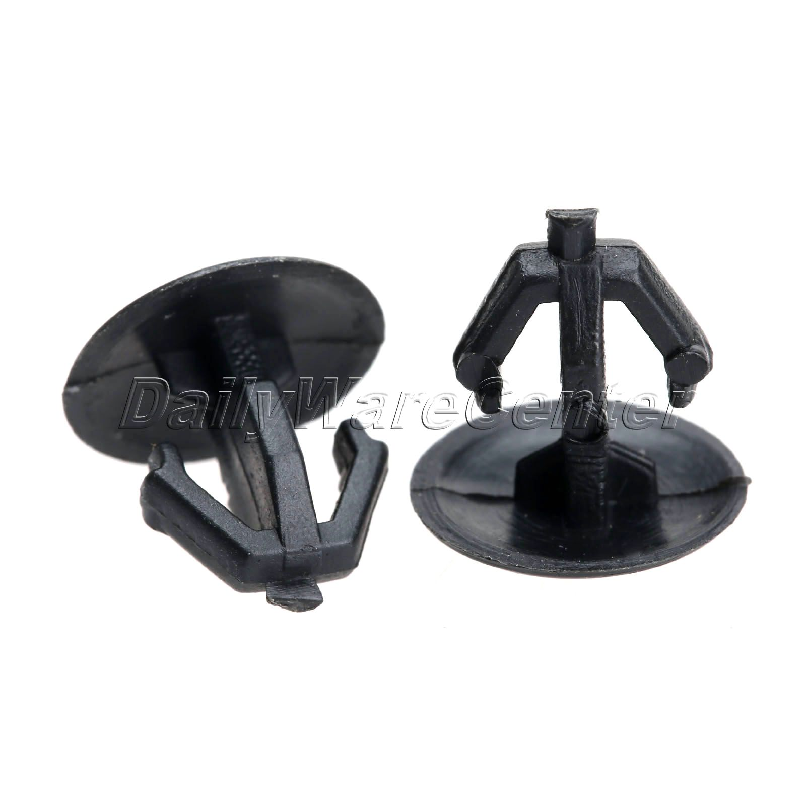 50* Black Car Plastic Sealing Nail Snaps Fastener Clips 9mm Hole Retainer Auto Trim Panel Rivet for Honda Car Styling Nylon Kits(China (Mainland))