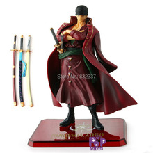 High Quality Pop Anime BANDAI One Piece Action Figure Roronoa Zoro In Red PVC Classic Cool Roronoa Zoro Toy For Children Gift