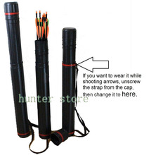 Arrow Quiver Tube Holder 24pcs Arrows with Adjustable Length 25 40inch Suited for Any Size Arrows