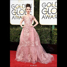 Lily Collins 74th Golden Globe 2017 Red Carpet Celebrity Dresses (China (Mainland))